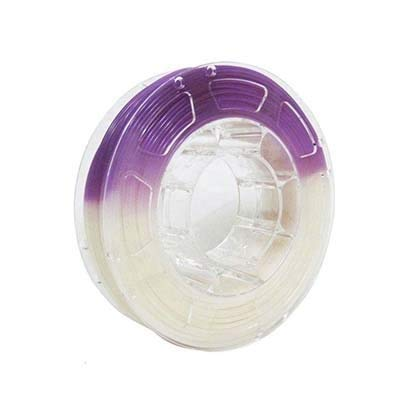Love lamp 3D Printer Filament,UV Light Change Color Filament,PLA Filament for 3D Printer 1.75mm +/- 0.03 mm,1kg (2.2lbs) Spool (Color : White to Purple)