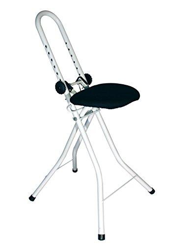 Stehhilfe Sitzhilfe Höhenverstellbare Bügelhilfe Stehstuhl Stehsitz Bügelstuhl