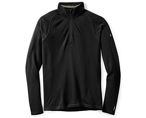 Smartwool Men's NTS Mid 250 Zip T Top, Black, MD