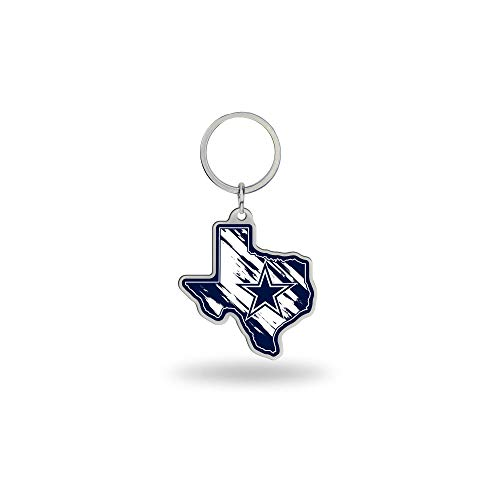 NFL Rico Industries State Shape Keychain, Dallas Cowboys