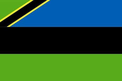U24 Aufkleber Sansibar Flagge Fahne 8 x 5 cm Autoaufkleber Sticker