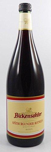 6 x Spätburgunder Rotwein halbtr. 1 Liter 2014 Weinvogtei Bickensohl zum Vorzugspreis,halbtrockener Rotwein aus Baden