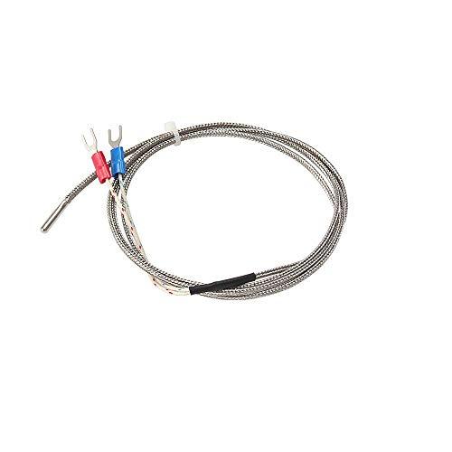 DollaTek 3 pz sensore di temperatura tipo k cavo 1 m 3x10x1000mm termocoppia 0-600 gradi per stampante 3d