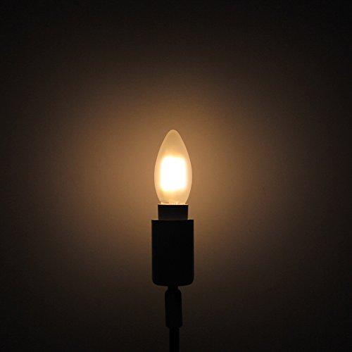 6er-Pack E14 Dimmbar LED Kerzenform Ersetzt 40W Glühlampen,Warmweiss 2700K, C35 4W, Matt Glas,360º Abstrahlwinkel LED Birnen, LED Kerzenlampen, LED Kerzenleuchten, LED Leuchtmitte - 6