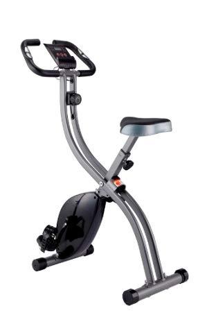 WENHAUS Fitness Bike Advanced Heimtrainer, LCD-Display, klappbarer Hometrainer, verstellbare Widerstandsstufen, mit Handpulssensoren, Faltbarer Fahrradtrainer, für Sportler und Senioren