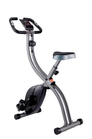 Wenhaus Fitness Bike Advanced - Cyclette pieghevole, con display LCD, per allenarsi a casa, con livelli di resistenza regolabili, con sensori di pulsazioni, per sport e anziani
