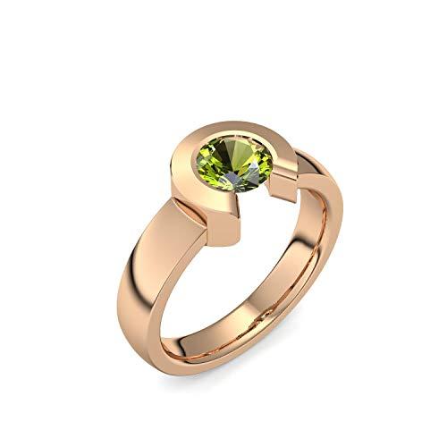 Rosegold Ring Peridot hochwertig vergoldet! + inkl. Luxusetui + Peridot Ring Rosegold vergoldet Peridotring Rosegold vergoldet Vergoldeter Ring (Rosegold vergoldet)...