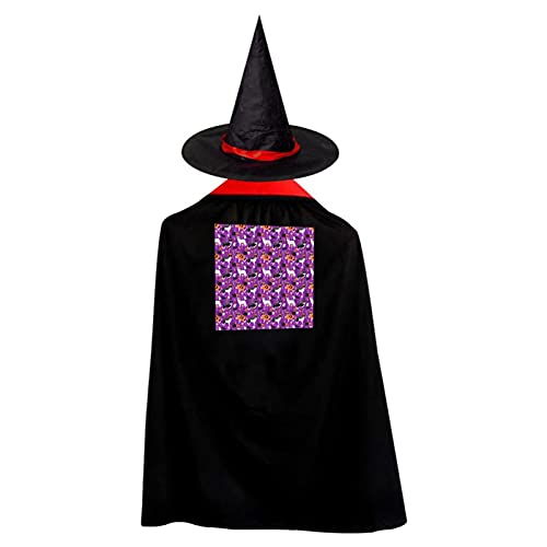 Donuts de maz de caramelo de Halloween Donuts bruja mago capa de Halloween disfraz de mago con sombrero Cosplay Festival accesorio de fiesta para nios nios nio nia