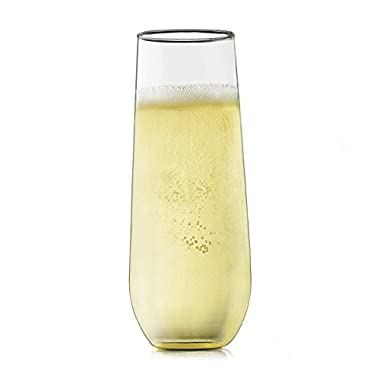 Libbey Stemless Champagne Flute Glass - Set of 12