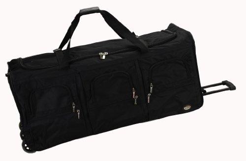 Rockland Unisex-Adult Rolling Duffel Bag, Black