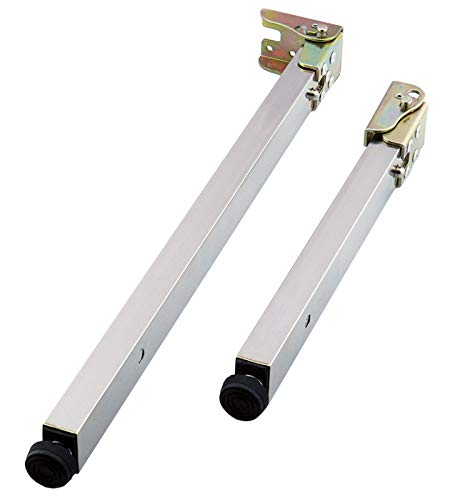 ZAZAP-1 Stainless Steel DIY Furniture Table Legs,Folding Telescopic Bar Desk Legs,Push-Pull Lift Dining Tables Cabinet Legs,50-130cm,Adjustable Protective Base,with Screws