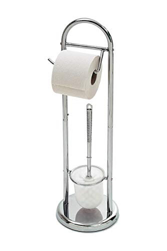 HERSIG - Escobillero Portarrollos Baño | Escobillero con Portarrollos de Papel Higienico...