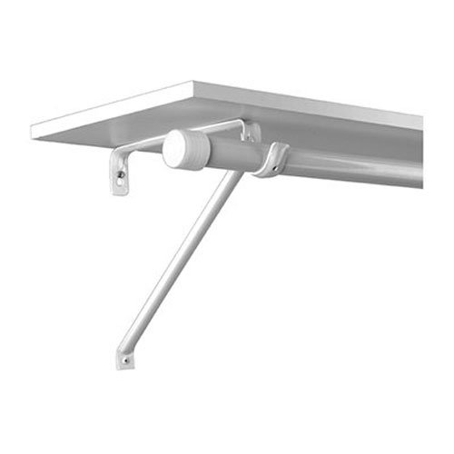 Knape & Vogt John Sterling RP-0042-BWT Adjustable Steel Shelf and Rod Bracket, White