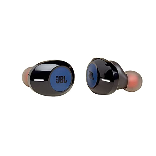 JBL TUNE 120TWS - True Wireless In-Ear Bluetooth Headphones with Microphone, Wireless Bluetooth Earbuds, up to 16 Hours Battery, works with Android and Apple iOS (Blue)