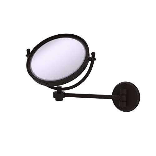 Allied Brass WM-5/3X 8 Inch Wall Mounted 3X Magnification Make-Up Mirror, Oil Rubbed Bronze -  WM-5/3X-ORB