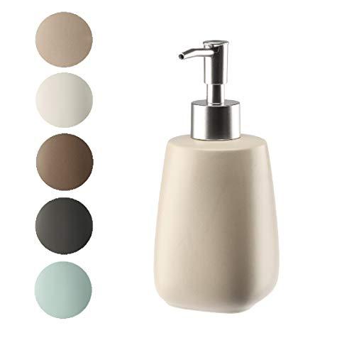 Dispensador de jabón líquido Kadax con bomba, dispensador de loción de cerámica mate, dispensador de jabón líquido, capacidad para lavavajillas, para baño, cocina, dispensador de jabón líquido (beige)