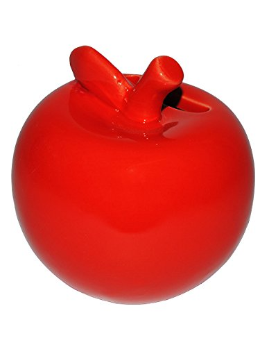 alles-meine.de GmbH große Spardose -  Apfel  - stabile Sparbüchse aus Porzellan / Keramik - Sparschwein - lustig witzig - Bunte Äpfel - Reisekasse / Kinder Mädchen & Jungen - G..