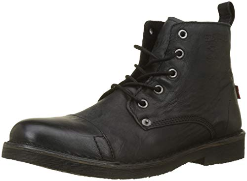 Levi's Herren Track Biker Boots, Schwarz (Noir Regular Black 59), 45 EU