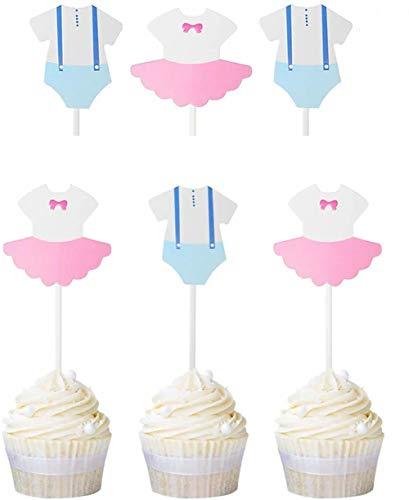 Dusenly 20 x Geschlecht enthüllen Cupcake Topper Boy oder Girl Baby Shower Party Fragezeichen Cake Topper Dekoration Lieferungen