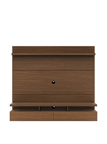 Wall Mounted Theater Center and Panel in Brown Finish