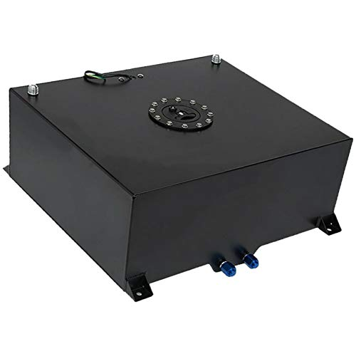 labwork Race Drift Fuel Cell Cap Tank 20 Gallon Aluminum Black+ Level Sender Black