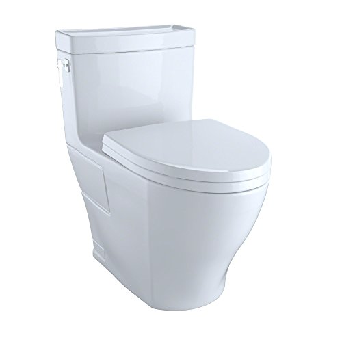 Toto MS626214CEFG#01 Aimes One-Piece High-Efficiency Toilet, 1.28GPF with Sana Gloss, Cotton
