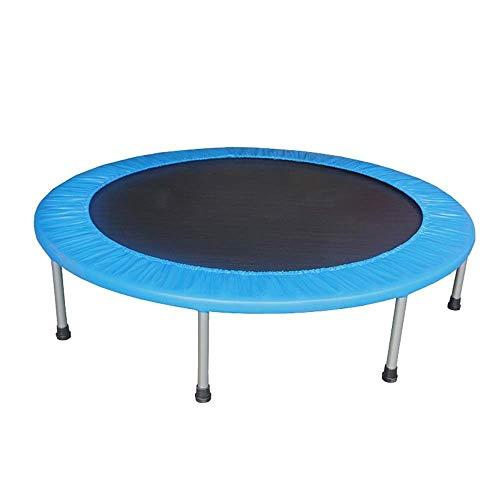 Rebounder 48'Household Indoor Children's Leisure Trampoline Adult Fitness Weight Loss Spring Jumping Bed Folding Safety Durable Bounce Practice Max Load 200kg Fitness Tramp Exercise Equipment