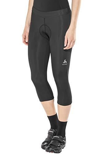 Odlo - Pantaloni Corti da Ciclismo 3/4 Breeze, da Donna, Donna, Corsari da Ciclismo, 422071, Nero, XS