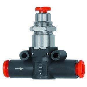 RIEGLER 106790-490-6 3/2-Wegeventil, pneum. NC, Schlauch-Schlauch, für Schlauch-Ø 6, 1Stk