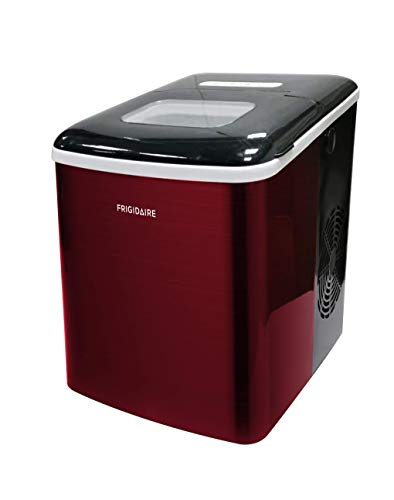 Frigidaire EFIC121-SSRED Ice Maker, Red Stainless