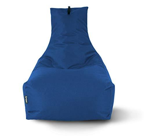 BuBiBag Sitzsack Lounge Sitzsack Sitzkissen XXL Tobekissen Bodenkissen Beanbag Kissen, für Kinder und Erwachsene (Dunkelblau/Marine)