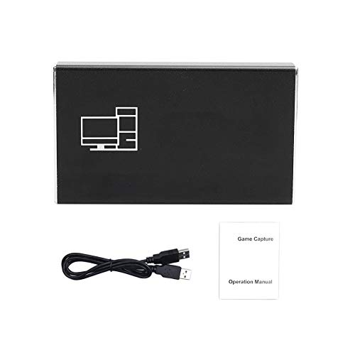 Yunseity Tarjeta de Video HDMI de Captura USB2.0, Tarjeta de Video HDMI y Accesorios de reproducción 4K 1080P, HDMI a USB Full HD 1080P Convertidor Grabber de Videojuegos(AY104)