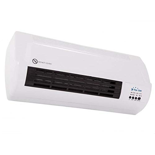 PURLINE HOTI M50 Calefactor cerámico Split de Pared 1000W / 2000W con Mando a Distancia y termostato Regulable