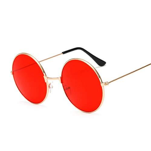 WZL Fashion Candy Vintage Gafas de sol redondas con espejo para mujer Gafas de sol negras de lujo para mujer, rojo gelatina