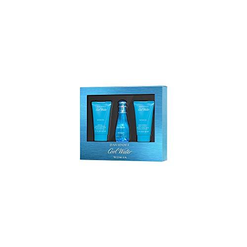 Davidoff Cool Water Woman Eau De Toilette 30Ml, Body Lotion 50Ml & Shower Gel 50Ml