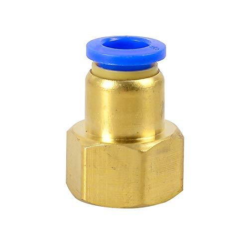 Wnuanjun 1pc PCF Aire Instalación de tuberías 4 6 8 10 12 mm Tubo Manguera de 1/8' 3/8' 1/2' BSP 1/4' Hembra Rosca latón de Montaje neumático Conector de unión rápida (tamaño : PCF6 04)