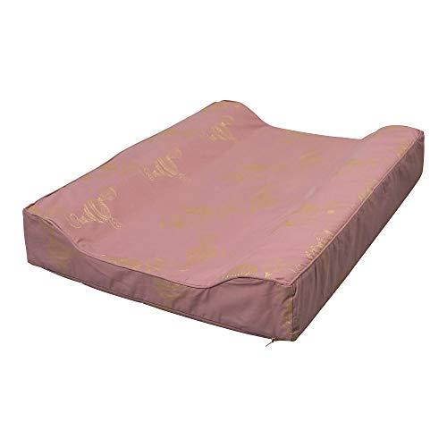 Filibabba® Deluxe Wickelauflage 2-Keil 65 x 50 cm   PU beschichtet, wasserabweisende Wickelunterlage   Wickeltischauflage abwaschbar   Bio Baumwolle   Dänisches Design (Airballoon Dusty Rose)