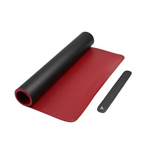 Alfombrilla de escritorio xxl| Alfombrilla de raton para gaming y oficina| Alfombrilla Gaming | Protector de mesa de doble cara y antideslizante | M&W (Negro/Rojo)