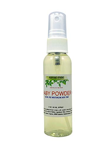 Alcohol Free Travel Size Moisturizing Body Spray for Women and Girls by Perfume Studio (Baby Powder, 2oz)