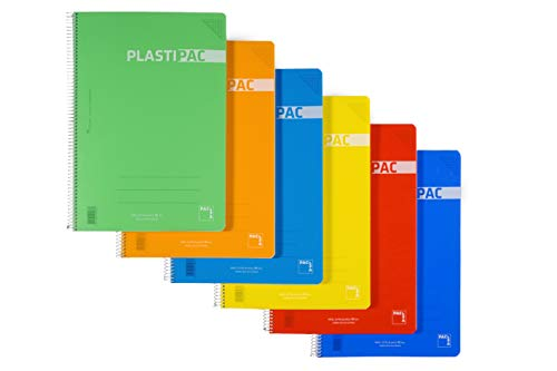 Paquete 5 cuadernos PACSA Folio PLASTIPAC