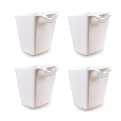Zhichy - Juego de 4 cajas de almacenamiento para colgar portátil, caja de plástico para utensilios de cocina, pequeñas plantas de baño