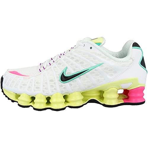 Nike Low Shox TL W - Sneaker da donna, Bianco (Bianco/nero/verde), 40.5 EU
