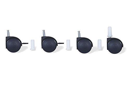 Pinolino 560001 - Rollensatz mit Hülsen, schwarz