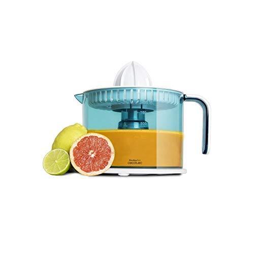 Cecotec Exprimidor Eléctrico ZitrusEasy Basic. Tambor de 1 litro BPA Free, Doble Sentido de giro, doble cono y Cubierta Antipolvo, 40 W
