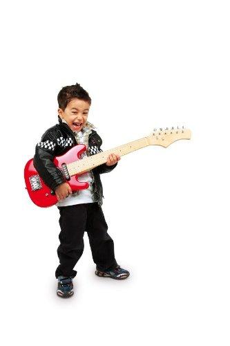 Guitare électrique, rouge