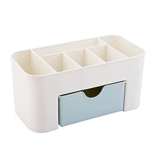 Mymotto - Organizer per trucchi, con cassetti, colore: blu