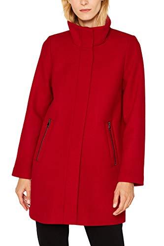 ESPRIT Damen 099Ee1G014S Mantel, Rot (Dark Red 610), Medium (Herstellergröße: M)
