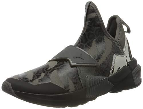 PUMA 194436, Zapatillas de Gimnasio Mujer, Negro Metálico Plata Castlerock, 38 EU