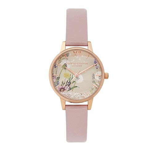 Olivia Burton Damen Analog Quarz Uhr mit Leder Armband OB16SG04