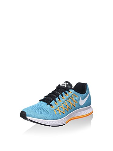 Nike Wmns Air Zoom Pegasus 32, Zapatillas de Running para Mujer, Azul (GMM Bl/White-LSR Orng-Vvd Orng), 36 EU